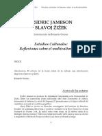 JAMESON, Fredric, ZIZEK, Slavoj, Estudios Culturales Reflexion Sobre El Multiculturalismo
