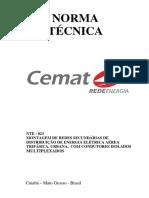 CEMAT NTE 023 Norma de Montagem de Rede Secundaria Isolada 11ª Edicao