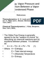 Vapor Pressure Equilibrium