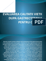 Evaluarea Calitatii Vietii Dupa Gastrectomiile Pentru Cancer Ppt