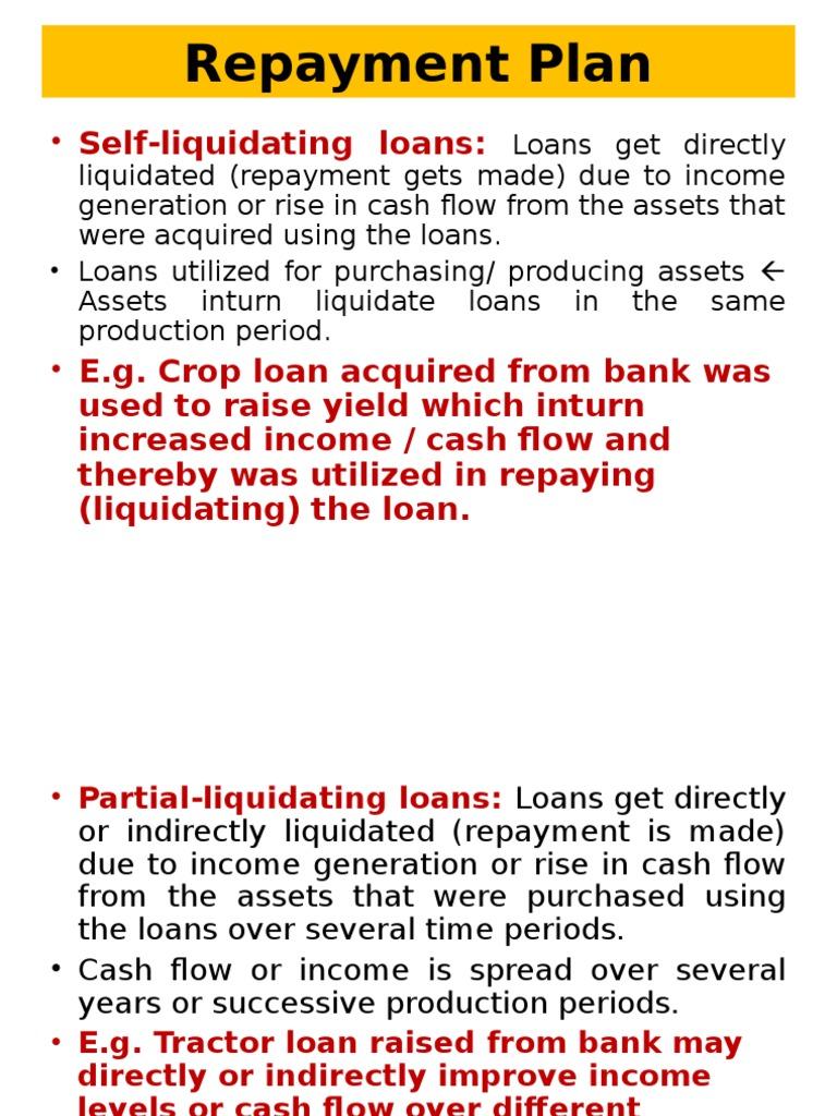 Self liquidating mortgage definition