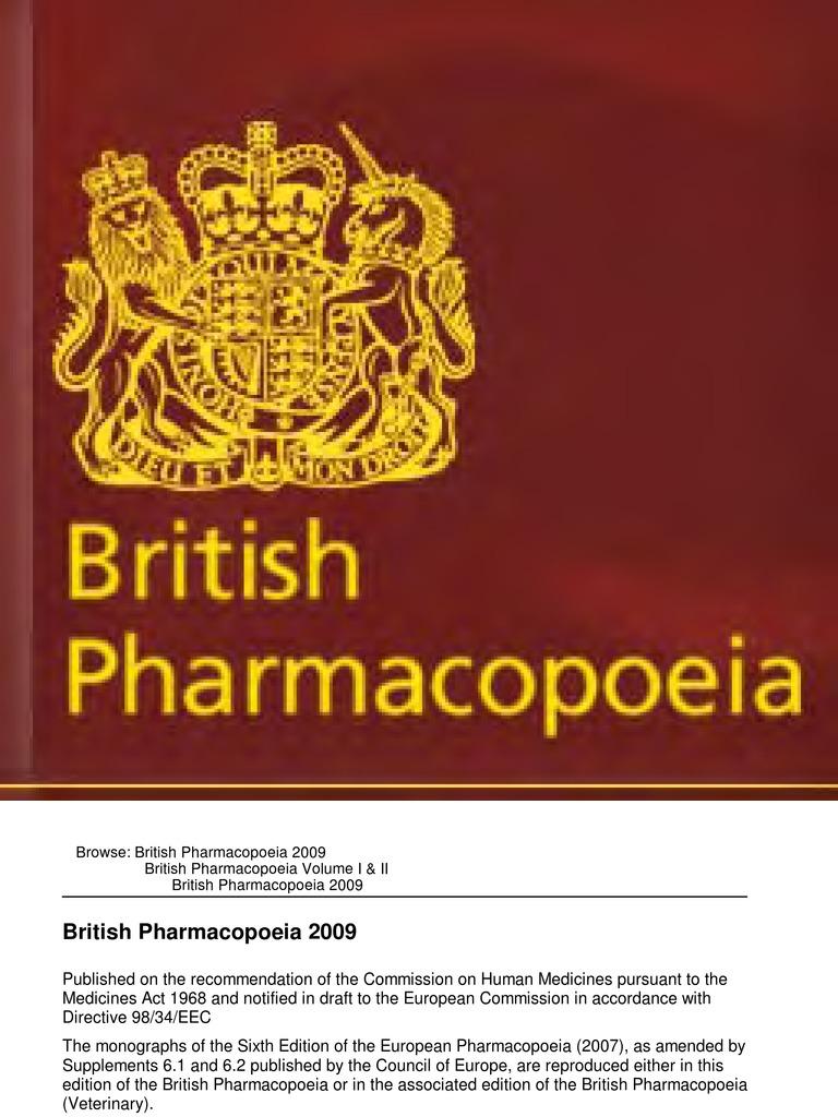 british pharmacopea 2009 pdf
