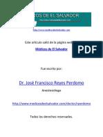 Hierbas Medicinales Usadas en El Salvador y Sus Riesgos Quirúrgicos Anestésicos