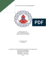 Analisis Critico Evaluacion Del Desempeño