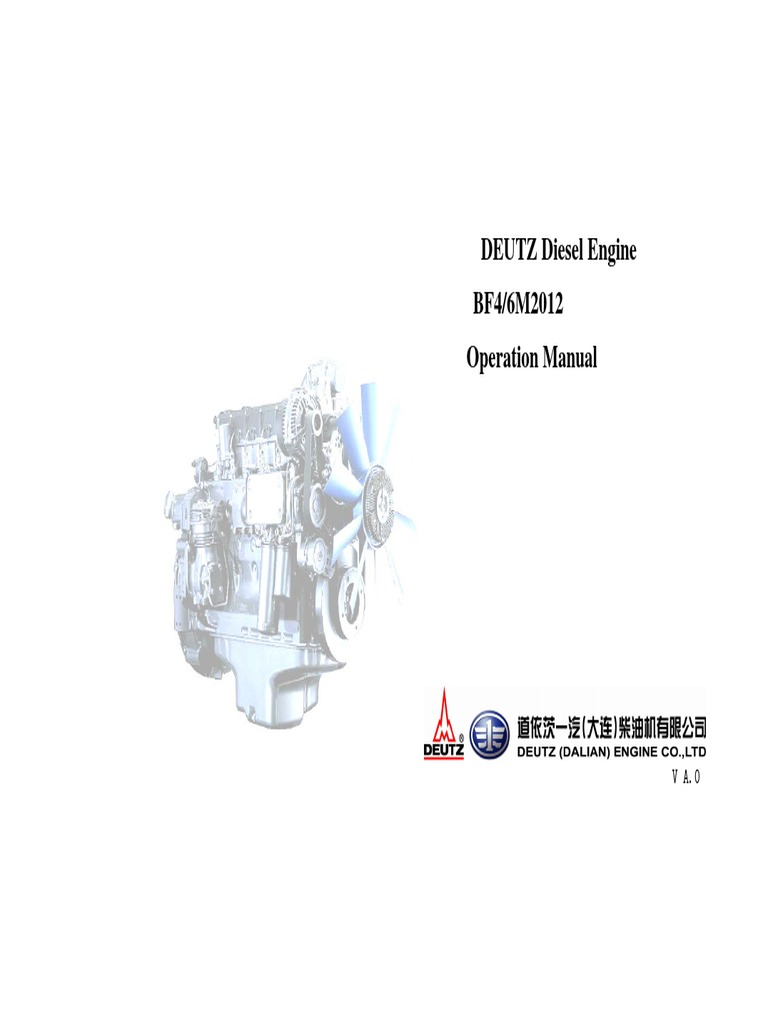 DEUTZ Diesel Engine BF4/6M2012 Operation Manual