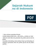 Sejarah Hukum Pidana Di Indonesia