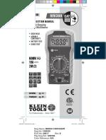 MM300_Klein Multimeter English Instructions