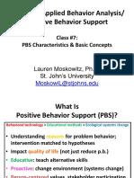 PSY 3420 - Class #7 - PBS Characteristics (Blackboard)