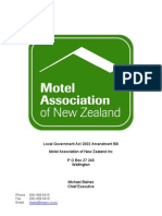 Motel Association Local Government Act 2002 Submission
