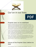 Qur'an in our lives