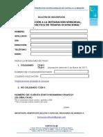 Boletin de Inscripcion Integracion Sensorial 2017 COFTO-CLM