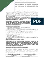 Libreto Licenciatura Octavo y Kinder 2015