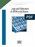 Design of Plywood Beams H815