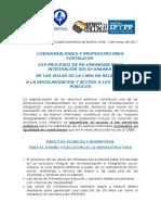 2017 - 03 - Marzo - 08 - Presentación de Propuestas Para Servicios Públicos Al IVC - Informe