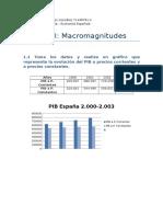 Eco Española Practica Macromagnitudes G Economía
