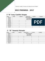 HORARIO PRIMARIA 2017