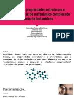 Estudo das propriedades estruturais e eletrônicas do ácido mefenâmico complexado a série de lantanídeos