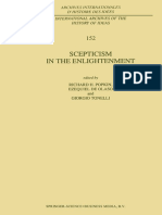 (Archives Internationales d'Histoire Des Idées _ International Archives of the History of Ideas 152) R. H. Popkin (Auth.), Richard H. Popkin, Ezequiel de Olaso, Giorgio Tonelli (Eds.)-Scepticism in Th