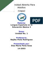 Unidad 1 - Español - Elsa