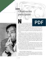 Bourdieu - Objetivacion Participante