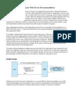 Enterprise Web Service Recommendations