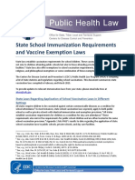 State School Immunization Requirements and Vaccine Exemption Laws