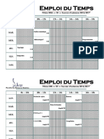 Emploi Du Temps Version 2