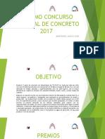 Séptimo Concurso Nacional de Concreto 2017