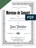 Debefve Morceau de Concert Pour Trompette Et Piano