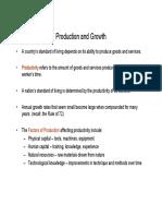 Economics Production & Growth