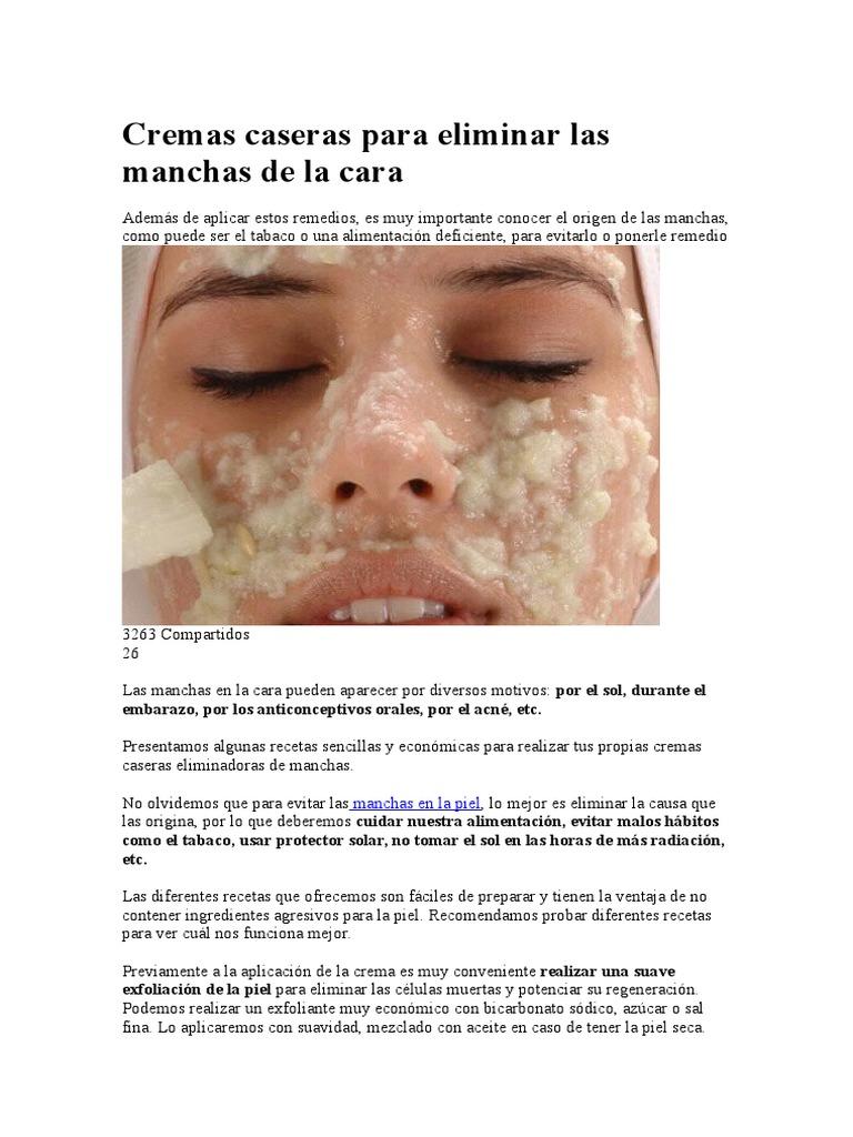 3af54e0ca81b Cremas Caseras Para Eliminar Las Manchas de La Cara