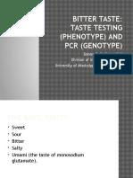 Bitter Taste and PCR.pptx