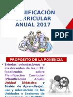 PLANIFICACION CURRICULAR ANUAL 2017