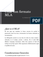 Citar Con Formato MLA
