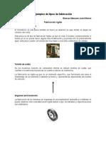 Ejemplos de Tipos de Fabricación