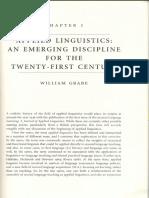 Applied Linguistics an Emerging Discipline Duff