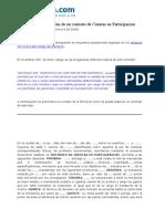 Contrato de Cuentas en Participacion Modelo