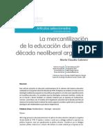 La Mercantilización de La Educación Argentina