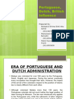 Portuguese, Dutch, English Influence-Presentation LAW