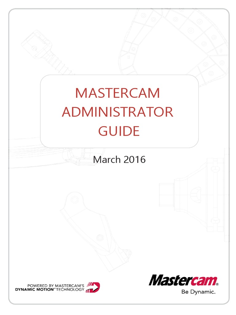 mastercam 2017 administrator guide pdf installation computer rh scribd com Mastercam X7 3D Mastercam X5 Espanol