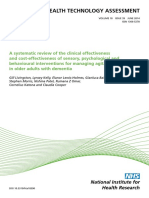 A Systematic Review of the Clinical Effectiveness and Cost-effectiveness of Sensory, Psychological and Behavioural Interventions for Managing Agitation in Older Adults With Dementia