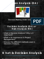 Decision Analysis (DA)