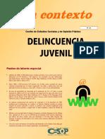 Contexto No.14 Delincuencia Juvenil