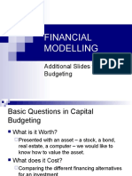 Financial Modelling 2009 - Cap Budgeting