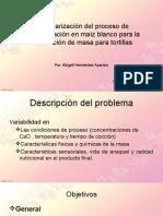Estandarización Del Proceso de Nixtamalización en Maíz Blanco
