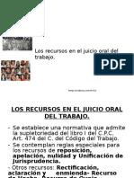Clases Recursos en Materia Laboral.