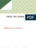 Central Limit Theorem (1)