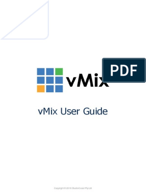 V Mix User Guide | Codec | Streaming Media