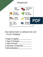 edel450 summative assessment shopping list  - toolkit