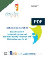 Education 2030 Incheon Declaration En